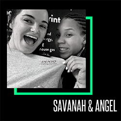Big Sister Savanah on the left and Little Sister Angel on the right
