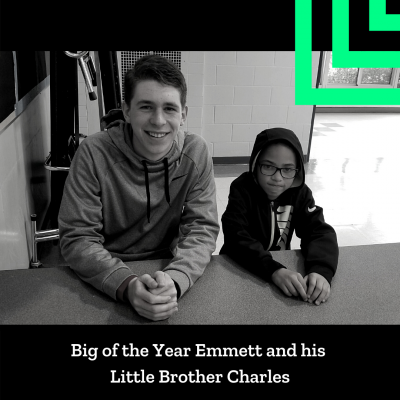 Photo of Big of the Year Emmett and his Little Brother Charles.