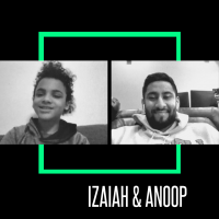 Zoom screenshot of Little Brother Izaiah and Big Brother Anoop