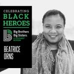 Portrait of Beatrice Orns with text reading Celebrating Black Heroes Big Brothers Big Sisters of Southwest Michigan logo